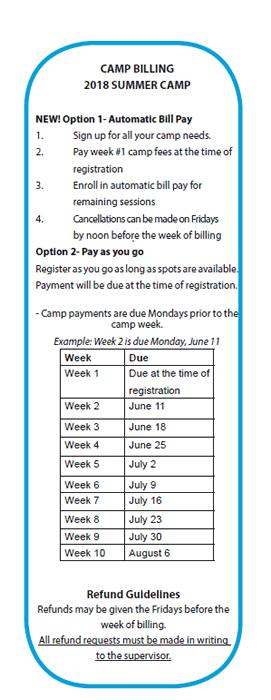 Camp Billing 2018