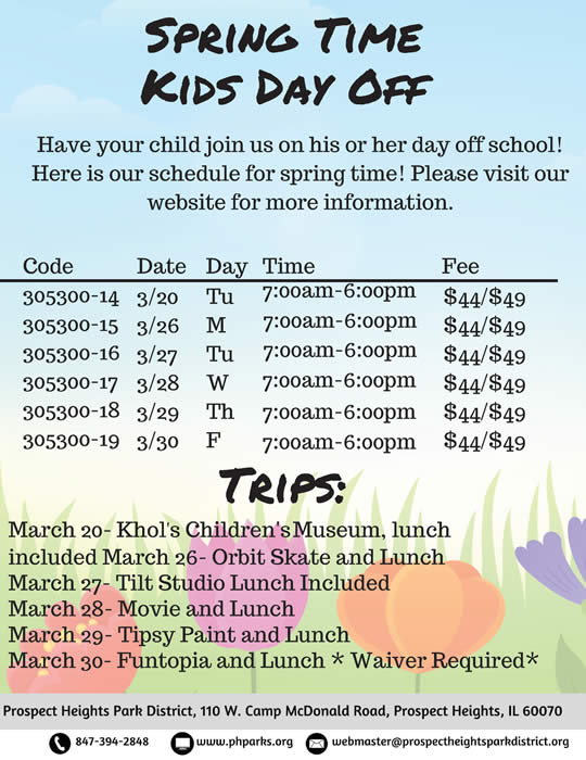 Spring Time Kid's Day Off