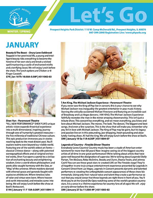CLICK FOR MORE - Winter/Spring 2019 Active Adult Newsletter