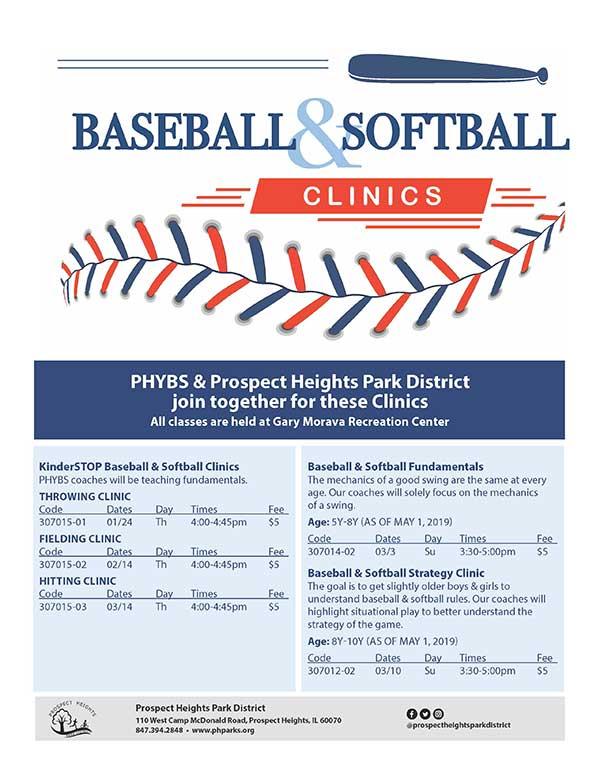 CLICK FOR MORE - Baseball & Softball Clinics