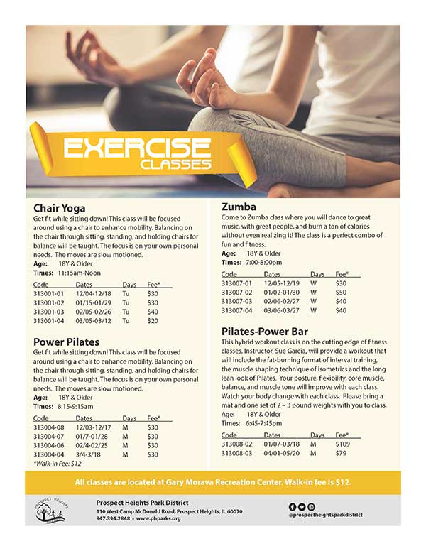 CLICK FOR MORE - Exercise Classes