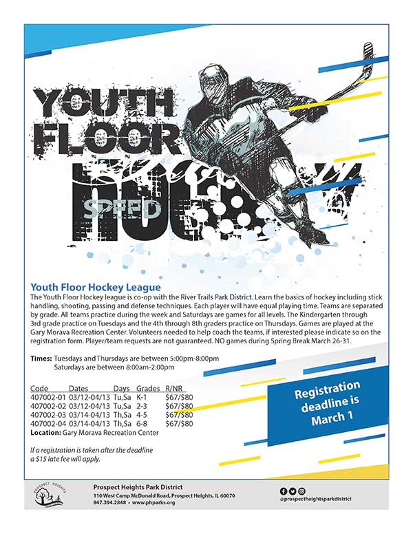 CLICK FOR MORE - Youth Floor Hockey