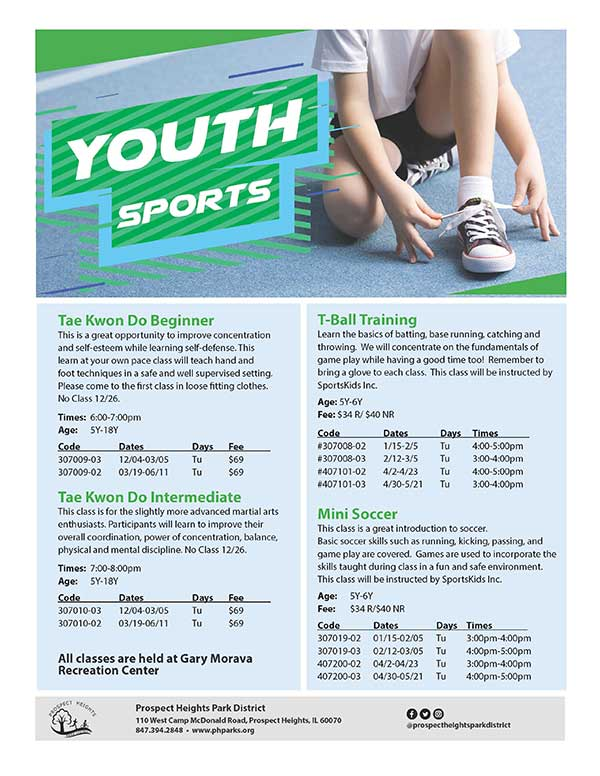 CLICK FOR MORE - Youth Sports