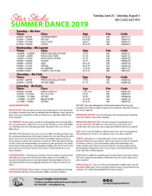 Summer Dance 2019