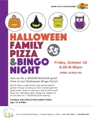 Halloween Family Pizza & Bingo Night