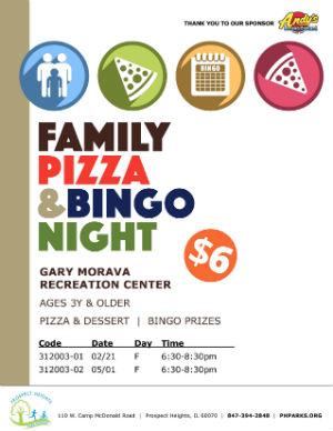 Family Pizza & Bingo Night
