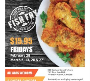 Fish Fry Fridays at Old Orchard Country Club