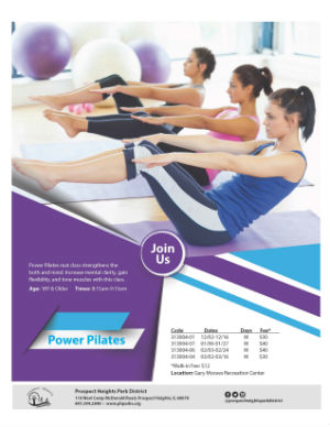 Click to view the Power Pilates list of classes