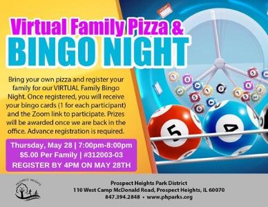 VIRTUAL Family Pizza & Bingo Night