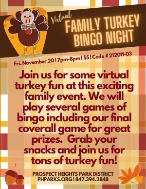 Virtual Family Turkey Bingo Night