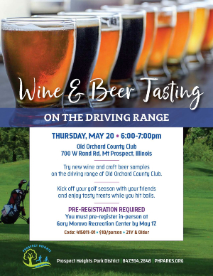Wine and Beer Tasting on the Driving Range at Old Orchard Country Club